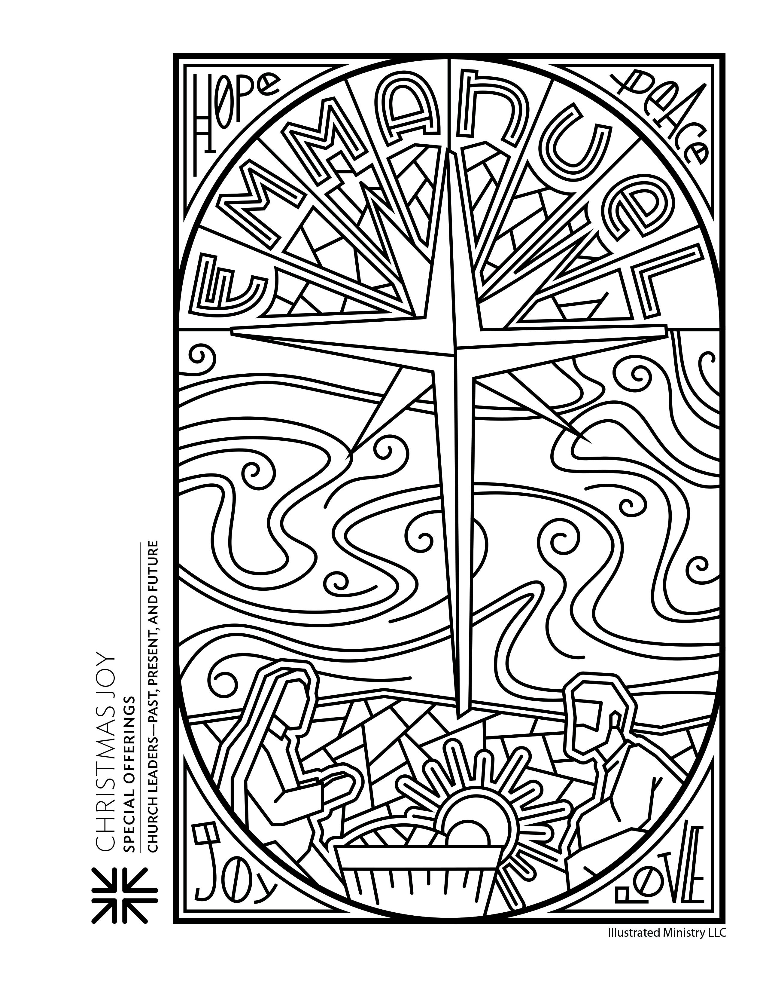 Presbyterian Special Offerings   Christmas Joy Coloring Sheet